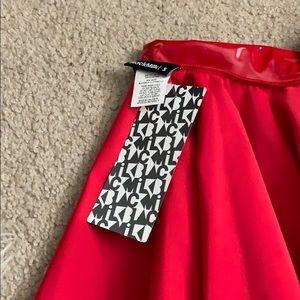 Blackmilk red PVC skater skirt